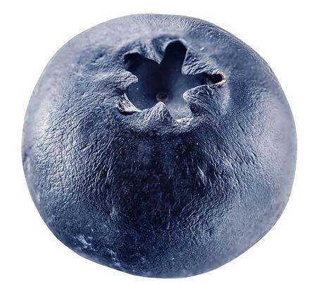Sluggish blueberries on a white background,  isolated