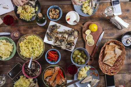 buffet, cena, Nochebuena, recetas, pavo, fiesta, fiesta, reunión festiva, día de acción de gracias