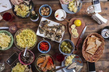 buffet, dîner, réveillon de Noël, recettes, turquie, vacances, vacances, rassemblement de vacances, action de grâces