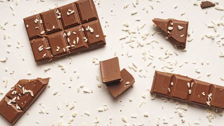 Gluten Free Dessert Concept, Chocolate Bar and Slices, Coconut Slices