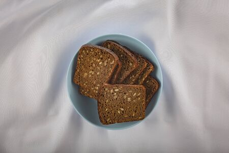 Dark bread with grains. Eco food product.