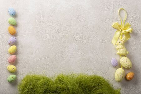 Easter background, bunny, bunny ears, easter eggs, pastel, high resolution