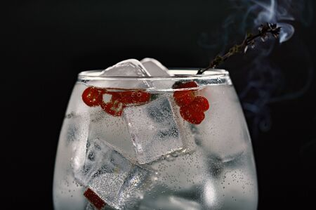 Alcoholic Cocktail with chili. Macro