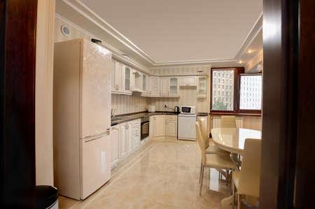 Luxury dining room interior modern apartment, apartment comfort, Archivio Fotografico - 157282975
