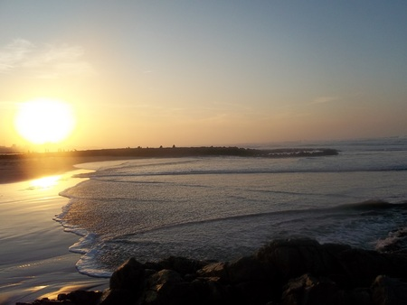 diciembre: Casablanca December Beach Sunset