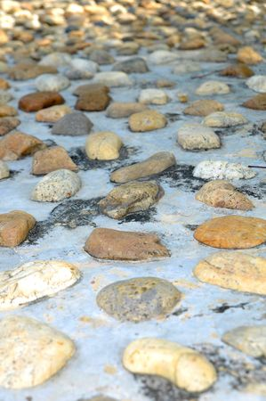 The structure of reflexology stones photo