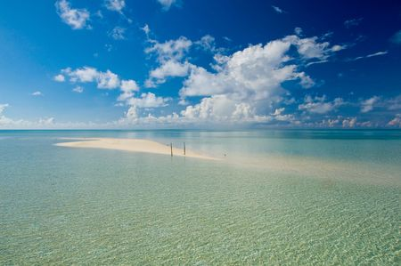 The beauty sand of Kapalai tropical exotic island