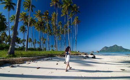 Asian girl during holiday at beautiful island