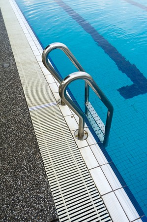 steel ladder to get into the pool