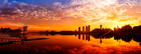 Una vista panorámica de Putrajaya