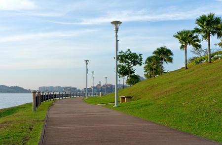 lamp post: Walking path-way for jogging and exercises