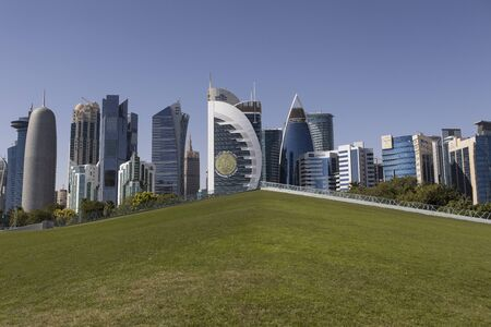 Doha Cityscape, Qatar. Standard-Bild