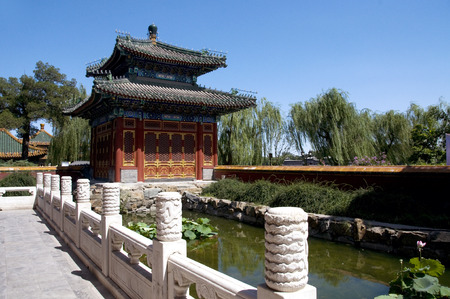 balustrades: Beihai Park in Beijing by the Pavilion