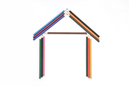 children's: Childrens colored pencils Stock Photo