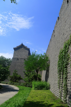 west gate: Beijing West Gate towers