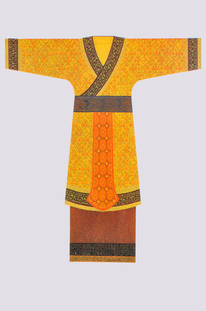 historical clothing: Clothing woven clothing heritage the ancient nobility, Shang of China