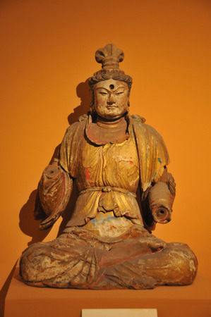 song dynasty: Painted carved wooden Buddha statue
