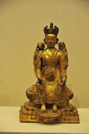 gilt: Jueduoji one gilt bronze statue Editorial