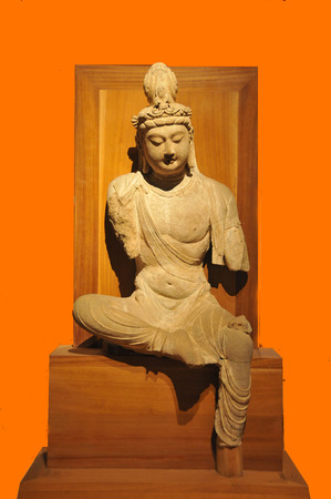 tang: Tang dynasty bodhisattva stone statue Editorial