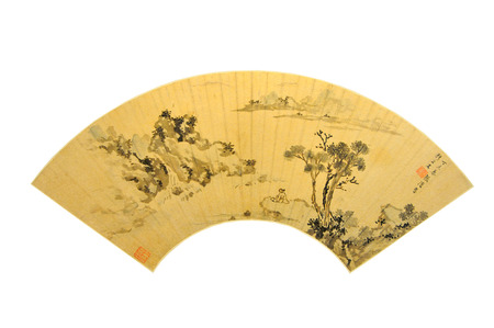 Ming Dynasty Chenghua years of ancient Chinese painting Editorial