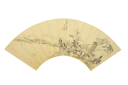 song dynasty: The Ming Dynasty Song Xu sails qiuwan map paintings of ancient cultural relics