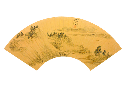 Xie Daoling hills, qiuwan figure painting of ancient cultural relics of the Ming Dynasty
