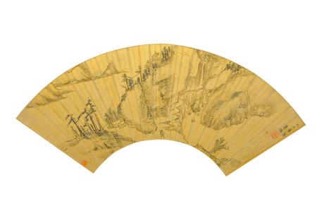 mapa de china: Chen Huanxi colina dinast�a Ming finales reliquias mapa chinos elementos pintura Editorial