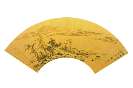 tree works: Ming Dynasty painting fan