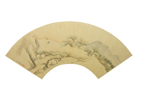 ancient relics: Qing Dynasty of ancient cultural relics Chinese landscape painting