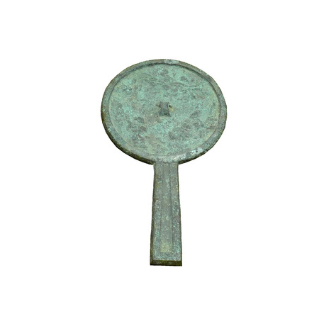ancient relics: Jin Dynasty relics of ancient bronze mirror handle Editorial