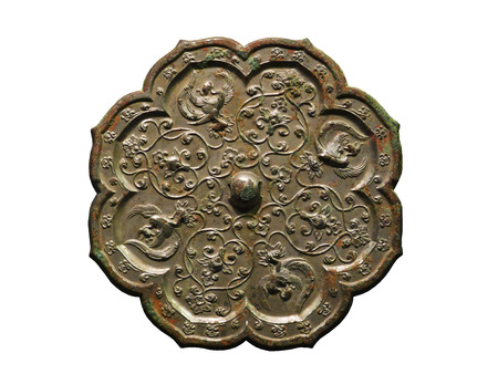 The bronze mirror of the Tang Dynasty China
