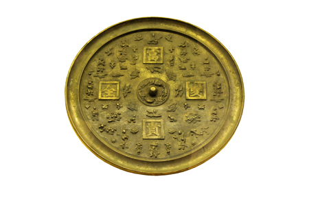 ancient relics: The Qing Dynasty bronze mirror mirror mirror, rich and full Chinese ancient cultural relics Editorial