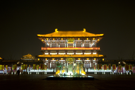 Xi'an Datang Furong Garden Night Scenery