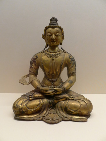 The Ming Dynasty, the gold and bronze, the Buddha statue