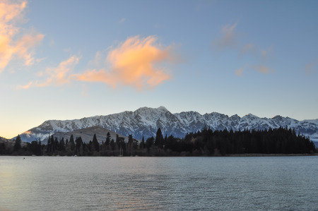 Sunrise at Leak  Wakatipu of Queen Town, New Zealand photo