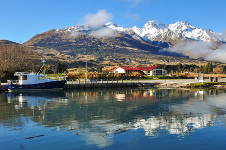Sunny day with blue sky at Glenorchy,New Zealand photo