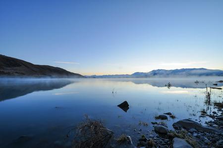 tekapo: The sunrise at Lake Tekapo in the morning