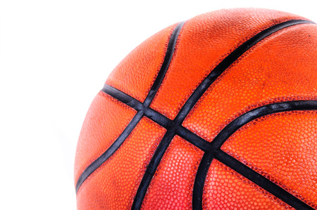 international basketball: Basketball isolated on a white background Stock Photo