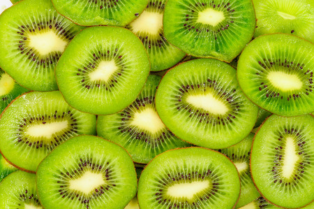 Kiwi,Slices of kiwi fruit 免版税图像