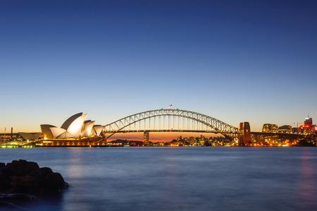 The Sydney Opera House and Harbor bridge