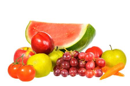 mix fruit: Mix fruit isolated on white background