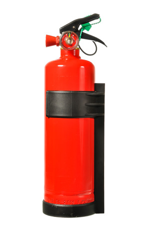 foam safe: Fire extinguisher tank isolated on white background