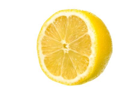 lemon slice: Lemon Slice isloated on white background Stock Photo