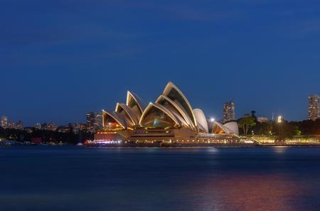SYDNEY AUSTRALIA - March 12,2017 : Sunset at Sydney Opera House, Sydney, Australia, Over 10 millions tourists visit Sydney every year