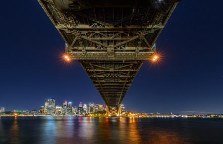 Sydney Harbour Bridged viewed from Milsons Point in North Sydney Australia. Sydney Harbour is a beautiful meandering waterway, famous around the world.