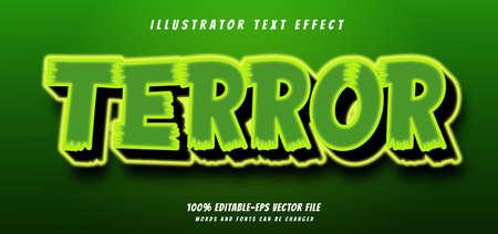 terror text effect