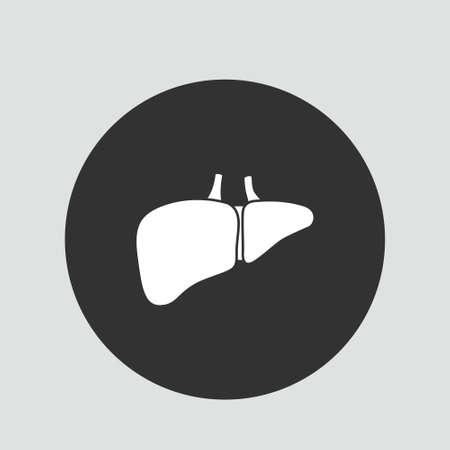 liver organ human design vector illustration and part organ human Иллюстрация