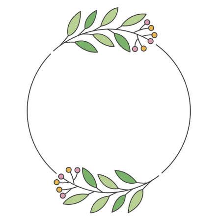 colorful wedding monograms minimalist design vector object Vettoriali