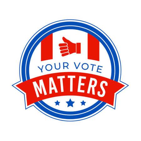 usa president election vote badge