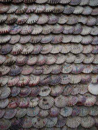 Ermida Casa de las Conchas chapel shrine sea shells covered facade Illa Ilha da Toxa La Toja Pontevedra Galicia Spain Imagens
